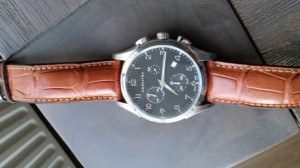 Horlogeband Hamilton 22mm cognac