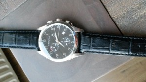 Horlogeband Hamilton 22mm zwart