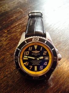 Echt alligator voor breitling horloges