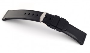 Horlogebandje rubber zwart