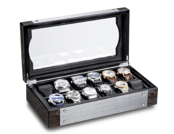 Horloge opbergbox Ferocase Meisterwerk Rotimer Black Oak