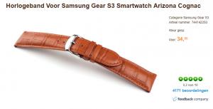 horlogeband samsung gear s3