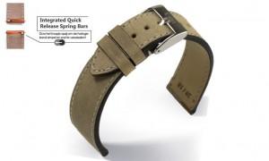 smartwatch band nubuck beige