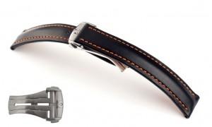 Horlogeband Omega Engineer zwart oranje