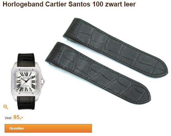 horlogeband cartier santos