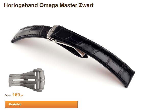 Horlogeband Omega Zwart