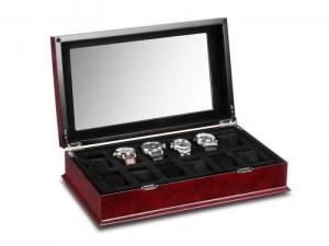 Horlogebox Red Burlwood | Horloge accessoires | De horlogebanden specialist