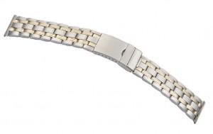 Horlogeband Metaal Montana Bicolor 20mm en 22mm (1)